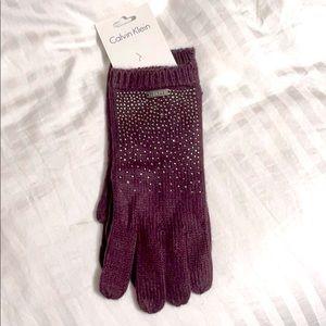 Calvin Klein Bedazzled Gloves